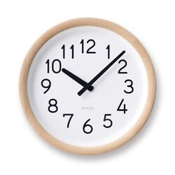 NEW Lemnos Day To Day Clock Natural PIL12-10 NT Wall Clock With Tracking