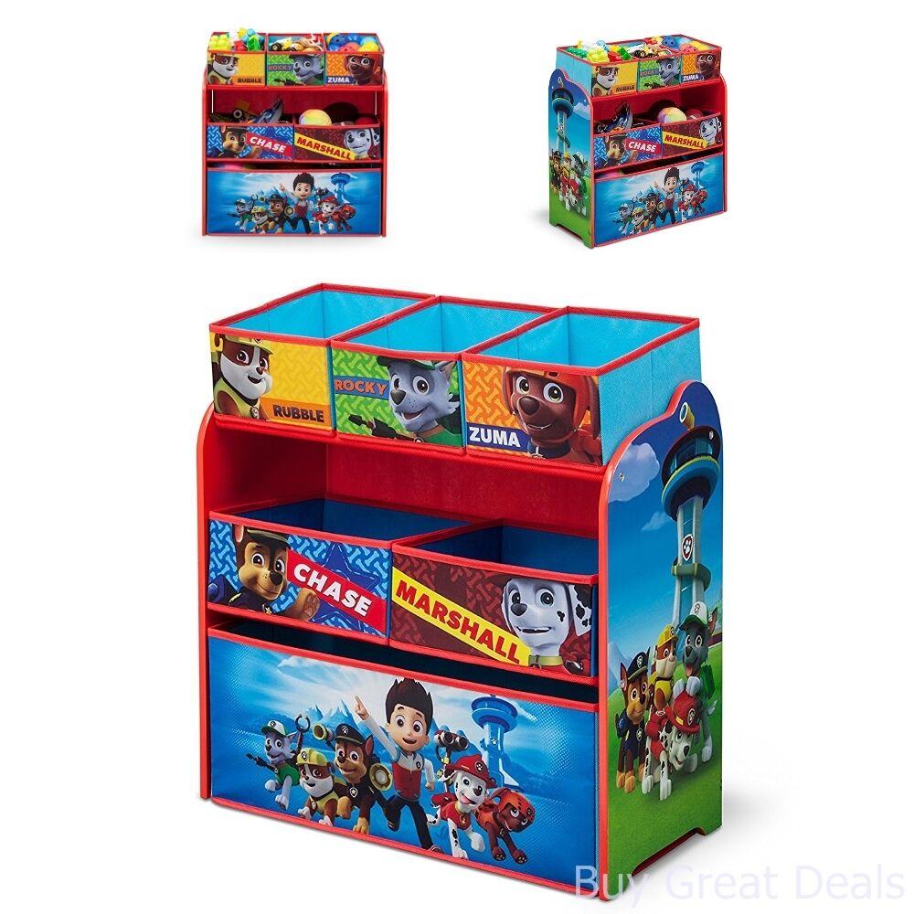 PAW Patrol Kids Toy Organizer Bin Children/'s Storage Box Bedroom Play Gift Puppy