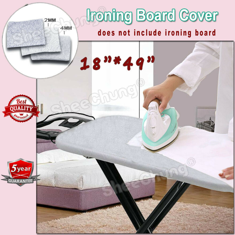 """49""""x18"""" Ironing Board Cover Heavy Duty 3-Layer Silicone"""