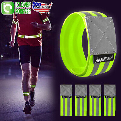 """Running NATHAN Reflective Tape Arm Band Arm 1/""""X27/"""" Road Safety Jogging,"""