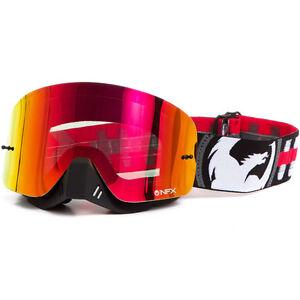 NEW Dragon NFX Bullet Black Red Frameless MX Ionized Tinted Motocross Goggles