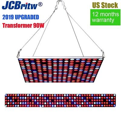 JCBritw LED Grow Light Dimmable with Timer 90W Full Spectrum Plant Growing Lamp 90w Led Grow Light