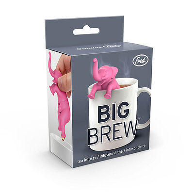 Fred Big Brew Pink Elephant Tea Infuser Silicone BPA-Free Cute Gift Delirium ()