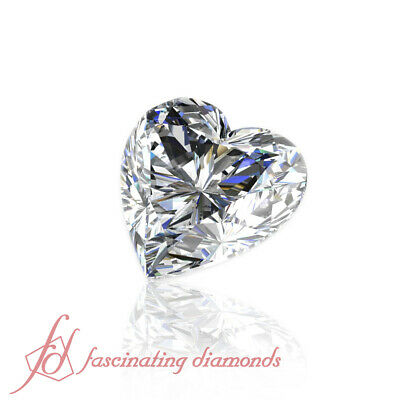 Laser Inscribed Natural Diamond 1/2 Carat Heart Shaped Diamond For Sale Flawless