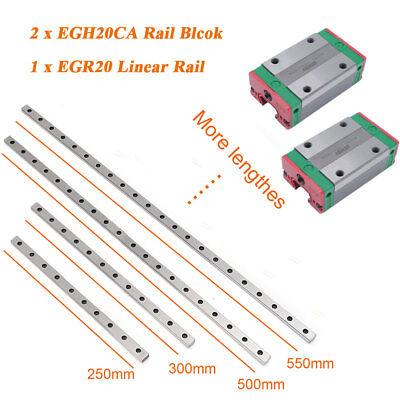 Linear Slide Rail Egr20 Guide 300-2500mm2pc Egh20ca Block Woodworking Kit Hiwin