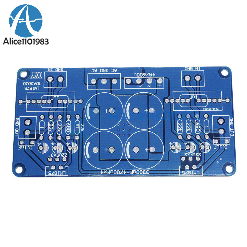 2pcs Lm675 Lm1875t Tda2030 Tda2030a Audio Power Amplifier Pcb Board Schematic With Ic This Is Suitable For The Compatible Ocl Dual Channel And Btl Mono Two Installation Styleswith Big