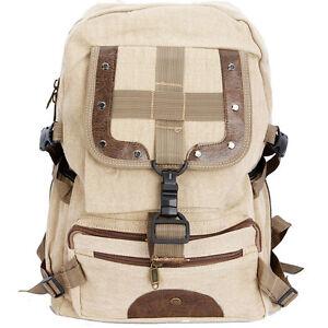 Durable-Men-Travelling-Canvas-Backpack-Women-Shoulder-Bag-Bookbag-Beige-07111