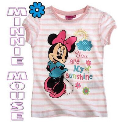 MINNIE MOUSE Camiseta Rayas Niña Infantil Disney Tallas 2 y 4 Años...