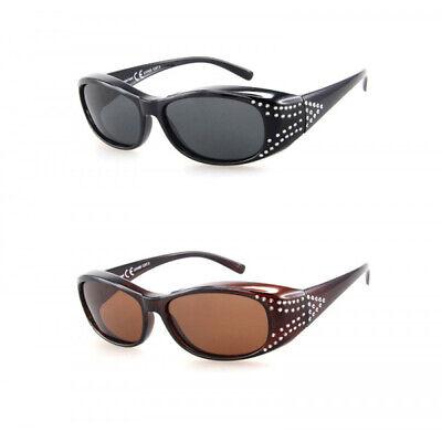 Polarisierte Überzieh Sonnenbrille Überziehbrille UV400 Fit Over für 3,5cm 50104
