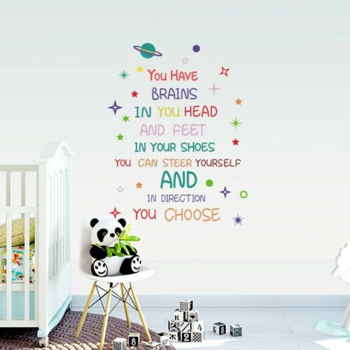 Home Decoration - Quotes Wall Stickers Family Kids DIY Removable Vinyl Decal Mural Home Decor