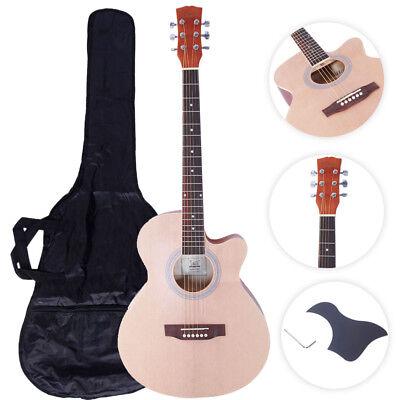"Glarry GT501 40"" Practice Beginner Spruce Folk Acoustic Guitar Wood Color"