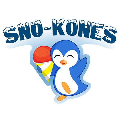 Sno-kones Concession Decal Sign Cart Trailer Stand Sticker Equipment