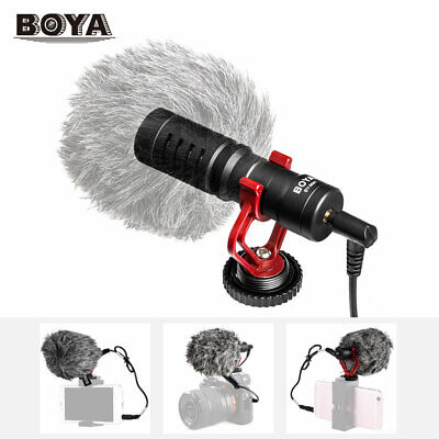 BOYA BY-MM1 Mini Video Mic Microphone Condensor for Nikon Canon DSLR Camera B2Y6