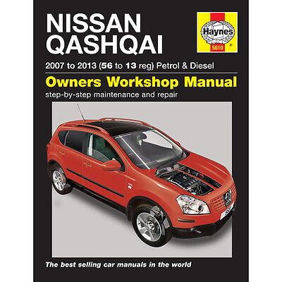 NISSAN QASHQAI 1.6 2.0 PETROL 1.5 2.0 DIESEL 2007-2013 HAYNES MANUAL