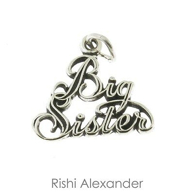 925 Sterling Silver Big Sister Charm American Made