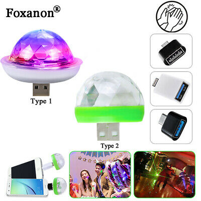 USB Party Lights Mini Disco Ball,Led Small Magic Ball Sound Control DJ Stage ](Mini Disco Ball)