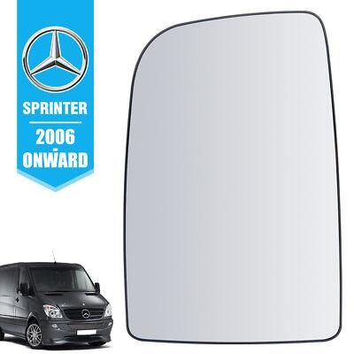 Mercedes Sprinter Wing Mirror Upper Large Glass PUSH On Left Passenger Side NS