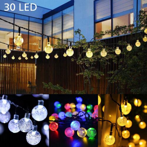 21FT Outdoor String Lights 30 LED Solar Bulb Patio Party Yard Garden Wedding 5