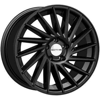 "4-Sothis SC107 18x8 5x4.5"" +35mm Gloss Black Wheels Rims 18"" Inch"