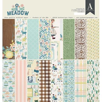 (Scrapbooking Crafts 12X12 Paper Pack Authentique Meadow Vintage Girl Boy Animals)