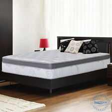 "Sleeplace 13"" Euro Box Memory Foam Top Spring Mattress, Bed, Full Queen King"