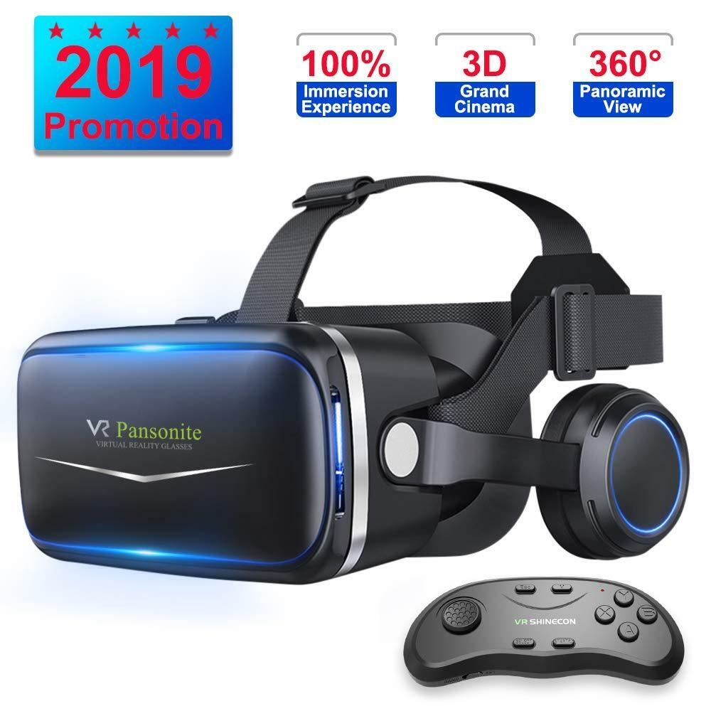 vr headset with remote controller 3d glasses