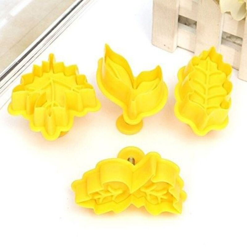 Pie Crust Cutters Cake Tool Biscuit Mold Leaves Press Plunge