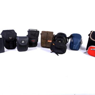 Lot of 25 Small + Mini Digital Camera Cases (Lowepro, Sony, Ruggard, etc)