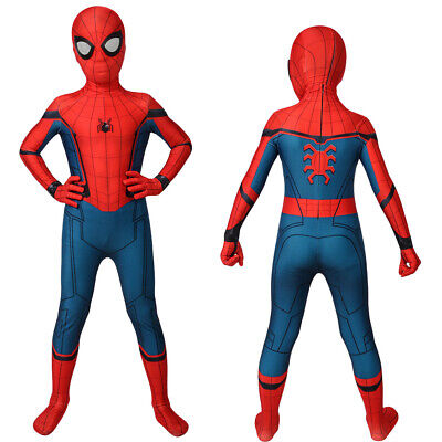 Spiderman Homecoming Costume For Kids Children Superhero Suit Fancy Dress Party