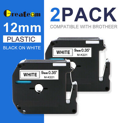 2 Pk M-k231 Mk-231 Label Tape Compatible With Brother P-touch Label Maker 12mm