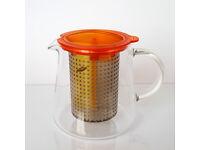 Finum Heat-resistant Glass Teapot Tea Control 0,8l (amber)