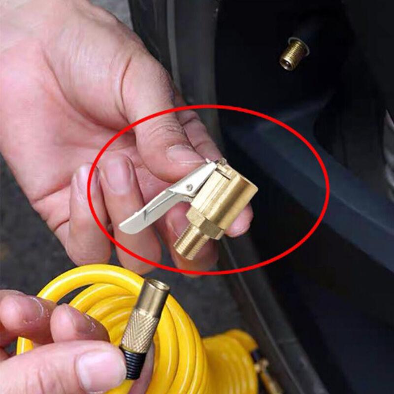 8mm Car Tyre Wheel Tire Air Chuck Inflator Pump Valve Clip Connector Adapter 1Pc