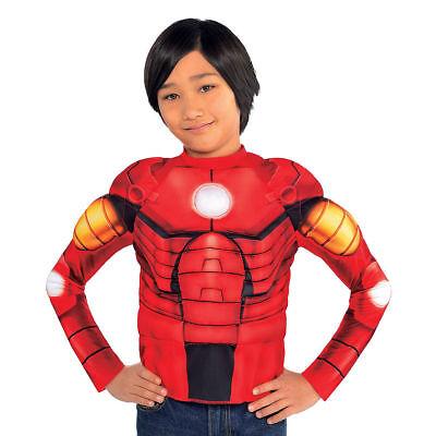 Captain America Bürgerkrieg Iron Man Muskel Jungen T-Shirt Kostüm Marvel Comics ()