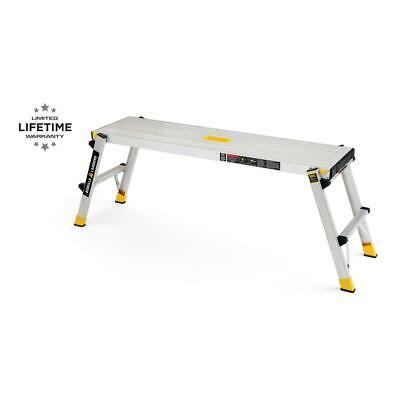 Gorilla Ladders Work Platform Aluminum Slim Fold 300 Lb Capacity Heavy Duty