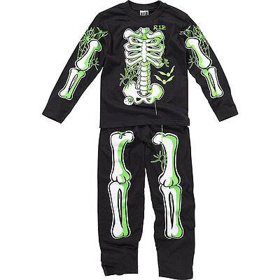 Boys Bedlam Halloween Skeleton Novelty Dress Up Glow In The Dark Pyjamas - Glow In The Dark Skeleton Pajamas Boys