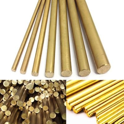 4681012mm Brass Round Bar Rod Solid Lathe Bar Modelmaking Cutting Tool
