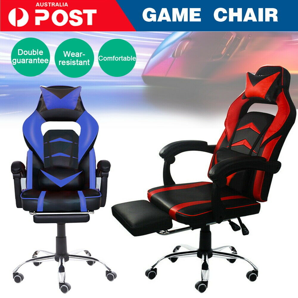 Computer Games - Gaming Chair Office Executive Computer Game Chairs Seating Racing Recliner AU