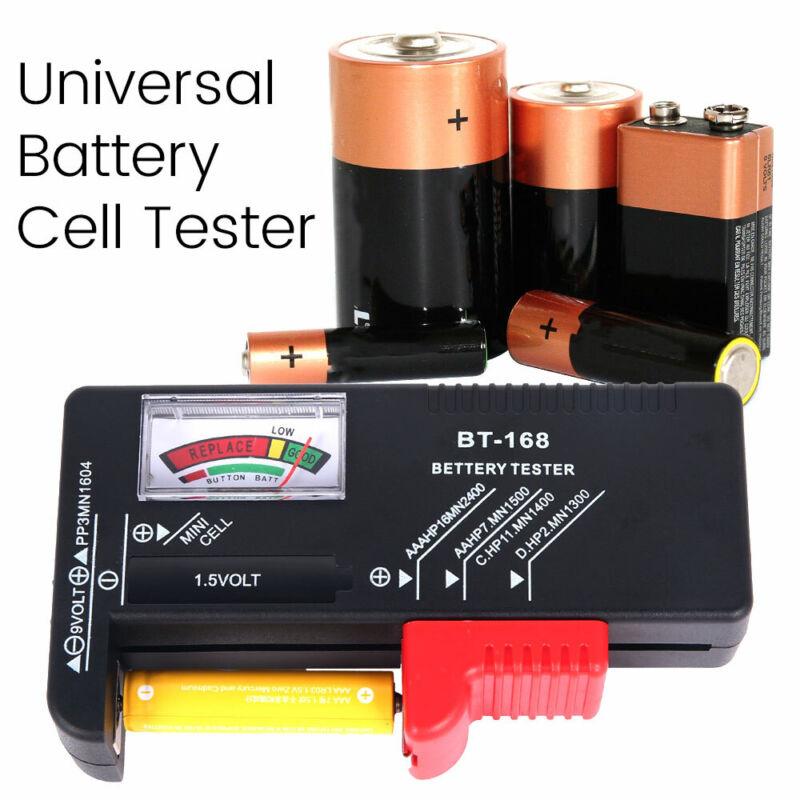 Universal Battery Tester Checker For AA AAA C D 9V 1.5V Butt