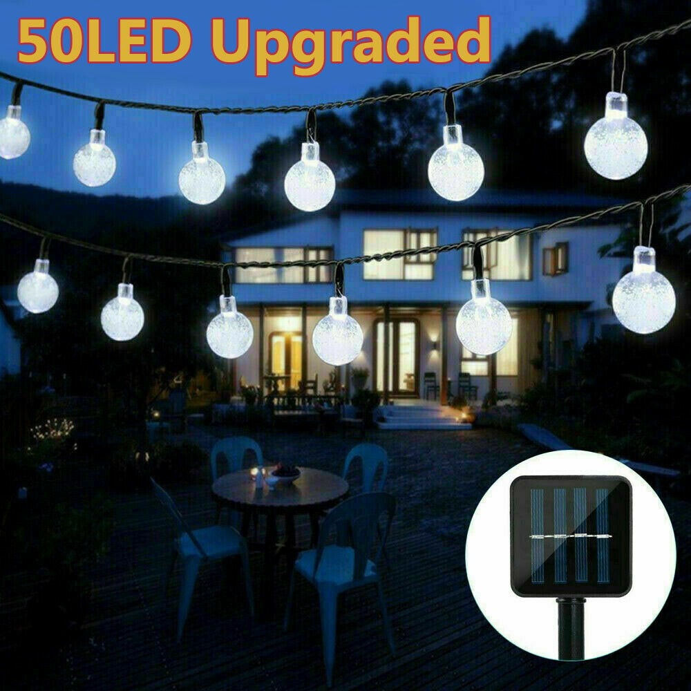 Solar Powered 30 LED Light String Garden Path Yard Decor Lamp Outdoor Waterproof Home & Garden