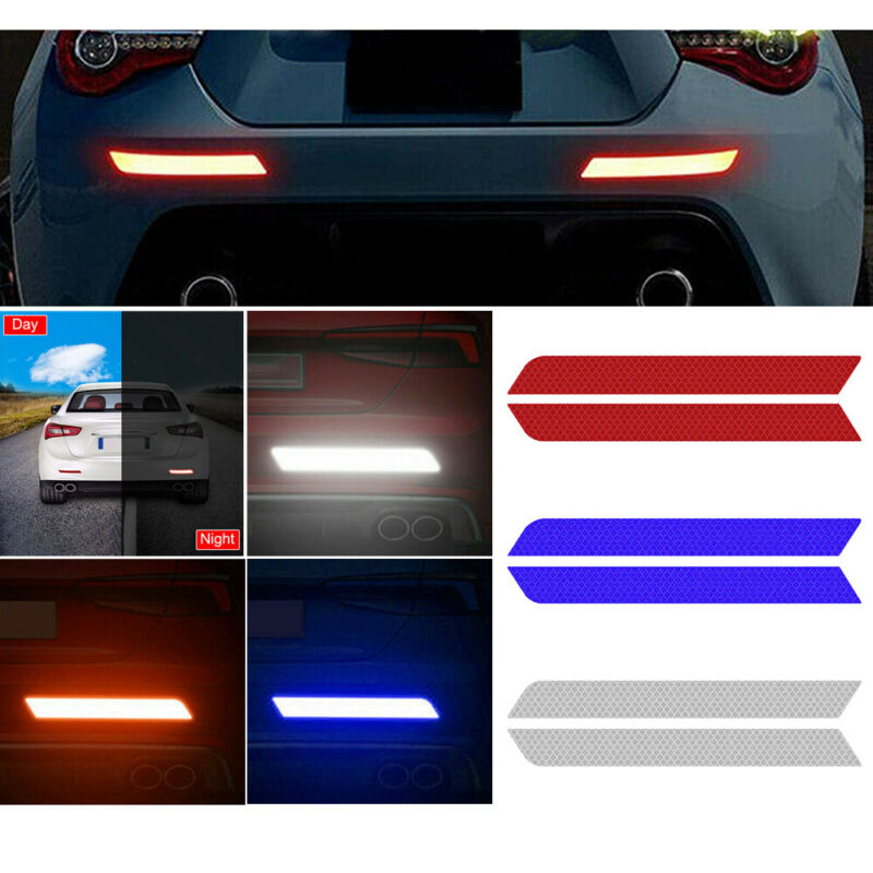2x Safety Mark Reflective Strips Car Door Sticker Warning Tape Auto Decal Hot