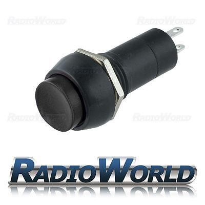 12v Push Button Switch Locking Latching ON - OFF SPST Car Dash Light Black