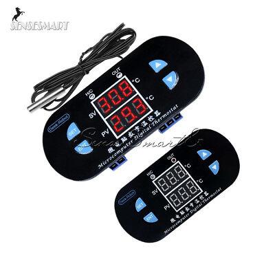 W1308 Dual Led Digital Temperature Thermostat Alarm Controller 12v 10a Sensor