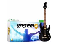 XBOX 360 GUITAR HERO LIVE WITH GUITAR AND BOX. BASICALLY BRAND NEW £40