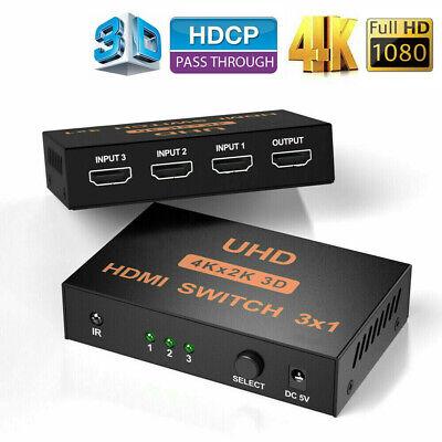 4K*2K 3in 1out HDMI Switch Hub Splitter TV Switcher Adapter Ultra HD for HDTV PC Splitter Tv Hub
