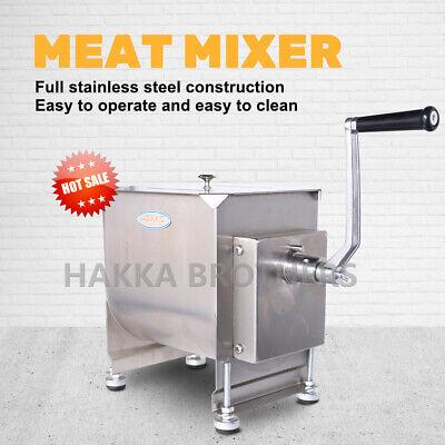Hakka Manual Meat Mixer 20 Lb 10l Capacity Tank Stainless Steel Sausage Mixer