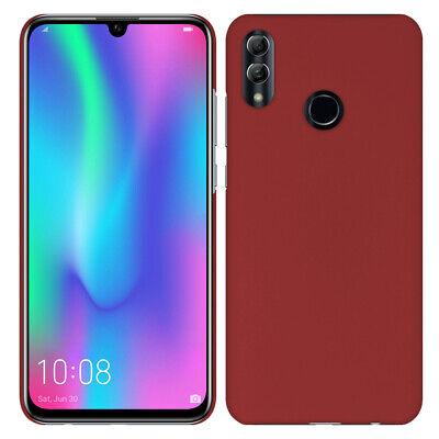 Hardcase für Huawei Honor 10 Lite - Hülle gummiert Rubber Schutz Case - Rot Rot Hard Case