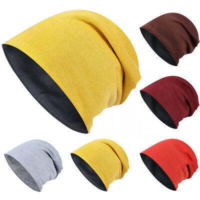 infarbig Weich Übergröße Hut Beiläufig Slouchy Mütze Kappe (übergroße Hüte)