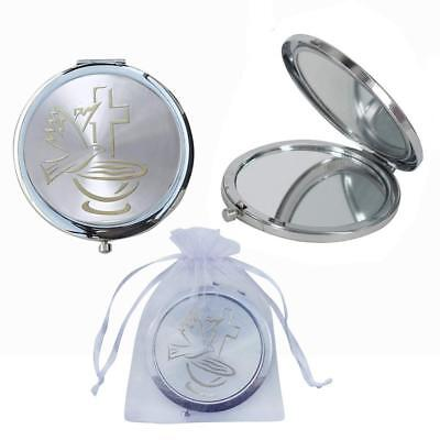 12 Baptism Party Favors Holly Cup Compact Mirror First Communion Bautizo ()