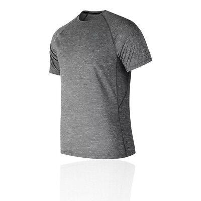 New Balance Mens Tenacity T Shirt Tee Top Grey Sports Gym Running Breathable