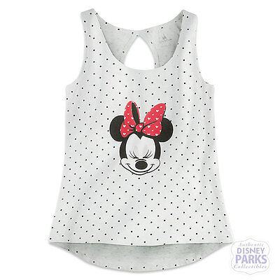 Disney Parks Minnie Mouse Polka Dot Tank Top for Women size Small